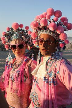thewhocaresgirl:    Pink Playa People by siberfi on Flickr.