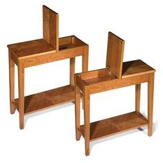 wood No-Room-for-a-Table Table - Occasional Table, End Table, Side Table - Levenger Along with publi Narrow Side Table, Small End Tables, Diy End Tables, Sofa Side Table, Wooden Side Table, Diy Table, Side Tables, Patio Table, Side Table With Storage