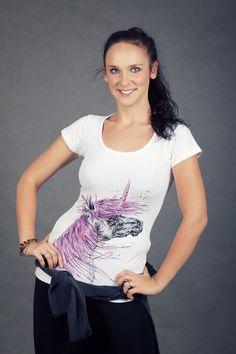 hand painted t-shirt unicorn