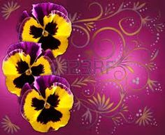 pansy fabric yellow & purple - Google Search