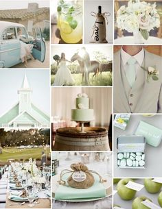 Wedding Colours - Mint Inspiration Board