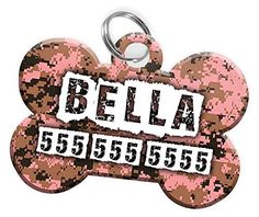 Pet ID Dog Tag - Digital CAMO (Hunting Dog) (Camouflage) Personalized Custom Pet Tag with Pets Name and Contact Number (Multiple Font Choices) (USA COMPANY) (Multiple Colors) * Visit the image link more details. (This is an affiliate link and I receive a commission for the sales)