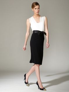 Woven Bow Belted Silk Combo Dress