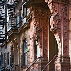 entrance, 42 Morton Street (1889), Greenwich Village, New York, New York