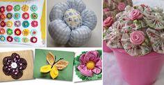 artesanato com flores de fuxico capa