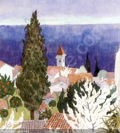 Roquebrune was sold by Blomqvist, Oslo, on Saturday, June «Ferdinand Finne Ferdinand, Oslo, Watercolor, Painters, Things To Sell, Art, Kunst, Pen And Wash, Art Background