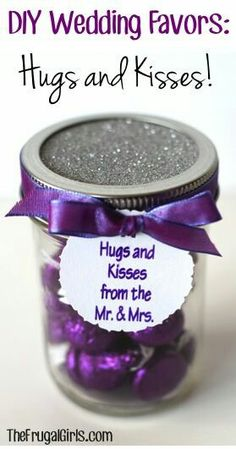 So doing this on my wedding day DIY Wedding Favors: Hugs and Kisses from the Mr.