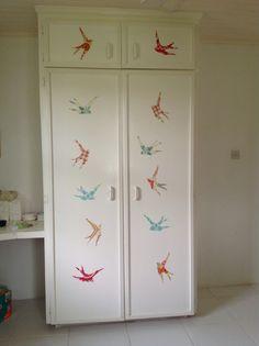 DIY fabric wall decals. Birds.
