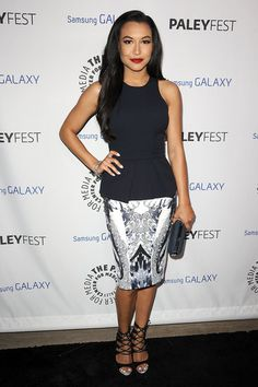 Lea and Cory Join Up With the Glee Cast to Celebrate Ryan Murphy: Naya Rivera looked chic at the event.