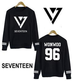 Cheap clothing blazer, Buy Quality hoodie sweatshirts for women directly from China hoodie com Suppliers: 2015 New Kpop Star SEVENTEEN members logo Hoodie korean group 17 kpop clothes pullover VERNON S COUPS JEONGHAN JOSHUA  J