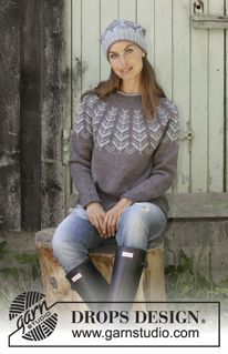 Ravelry: a Inner Circle Sweater pattern by DROPS design Fair Isle Knitting Patterns, Jumper Patterns, Sweater Knitting Patterns, Free Knitting, Crochet Patterns, Knitting Ideas, Drops Design, Handgestrickte Pullover, Knit In The Round