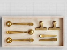Brass clips from Present & Correct in London