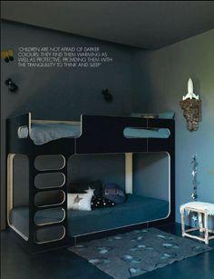 Dark color kid's room