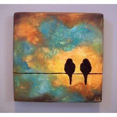 Bird silhouette painting.