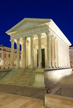The Maison Carrée (Square House) sta… Rome Architecture, Classical Architecture, Ancient Rome, Ancient Greece, Greek Buildings, Old Greek, Classical Antiquity, 1st Century, Old Building