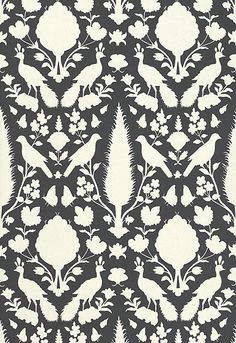 One of my all time faves... Chenonceau in Charcoal. @Schumacher — Fabric Wallcovering Trimming Furnishing