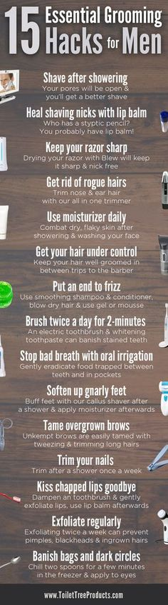Consider this your cheat sheet for grooming tips and tricks. Our 15 tips will help you look your best every single day.