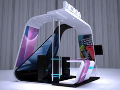 Nokia Asha booth by ahmad arty, via Behance Exhibition Stall Design, Exhibition Display, Exhibition Stands, Exhibit Design, Kiosk Design, Display Design, Retail Design, Standing Signage, Stand Feria