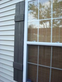 Cheap, easy shutters to consider when we repaint the house. I like this blog.