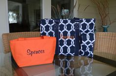 "19"" or 16"" Navy Rope Utility tote, Large Utility Tote, Nurse's Tote, Teacher's Tote, Personalized by StitchedInStyle1 on Etsy"