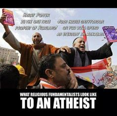 Atheism, Religion, God is Imaginary. What religious fundamentalists look like to an atheist.