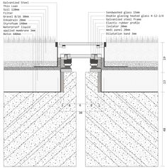 detail_drawing_ Detail Architecture, Architecture Portfolio, Ancient Architecture, Sustainable Architecture, Landscape Architecture, Peter Zumthor, Thermal Vals, Green Roof System, Roof Detail