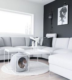 Classy furniture for discerning cats. Interior Styling, Interior Design, Ikea Living Room, Paris Design, Pet Furniture, Living Room Inspiration, Room Interior, Decoration, Dog Bed