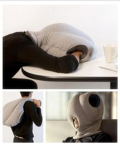 Power nap whenever with the Ostrich Pillow! Perfect for college students who spend long nights in the library or need a little privacy anywhere (even in their dorm!). #easydorm #dormitems #collegedorm