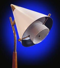 RARE Gerald Thurston LIghtolier Mid Century Tempestini VTG 50s Atomic lamp space