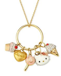 Hello Kitty - Sweet Hello Kitty Karma Charm Necklace - Last Call from Neiman Marcus Last Call. Saved to Jewelry. Hello Kitty Favors, Hello Kitty Shoes, Hello Kitty Jewelry, Pink Hello Kitty, Hello Kitty Items, Sanrio Hello Kitty, Hello Cute, Hello Kitty Collection, Baby Jewelry