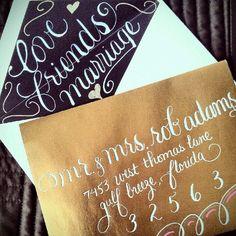 Recent Calligraphy: Envelope Liner Artwork | Calligraphy by Jennifer