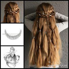 Messy boho halfupdo with a gorgeous hairclip and hair cuffs from the webshop www.goudhaartje.nl (worldwide shipping). #hair #hairstyle #braid #braids #hairstylesforgirls #plait #trenza #peinando #прическа #pricheska #ヘアスタイル #髮型 #suomiletit #zöpfe #frisuren #fläta #fletning #beautifulhair #gorgeoushair #halfupdo #haircuff #bohostyle #hairaccessories #hairinspo #braidideas #longhair #blonde #goudhaartje