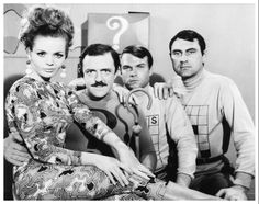 """John Astin as The Riddler, Deanna Lund as Anna Gram, Jim Lefebvre as Across and Ken Scott as Down in the television series """"Batman"""" which began in Batman 1966, Im Batman, Batman Robin, Batman Tv Show, Batman Tv Series, Batwoman, Batgirl, John Astin, Hero Movie"""