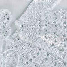 Organic Cotton Hand Crocheted Baby Dress and Headband Set
