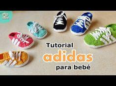 Zapatillas Adidas A Crochet Para Bebé Parte 1 De 2 Youtube