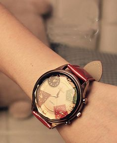 2013 Top Quality Fashion Famous Brand luxury Leather Strap  Women watch for lady big dial face wristwatch table $7.99
