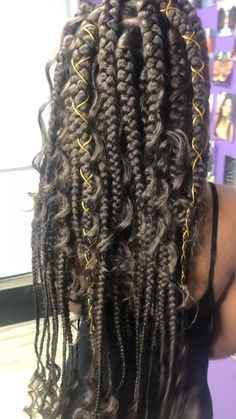 Top 60 All the Rage Looks with Long Box Braids - Hairstyles Trends Tree Braids Hairstyles, Frontal Hairstyles, Funky Hairstyles, African Hairstyles, Braids With Curls, Braids For Black Hair, Braids Easy, Braids Cornrows, Dutch Braids