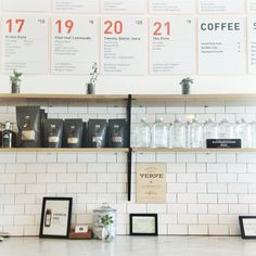 juice / coffee / menuboard