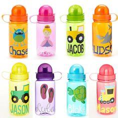 Leap Day SALE Personalized Kids Water Bottle by EllerysDesigns