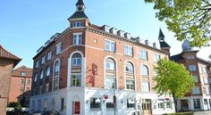 Hotel Ansgar Odense Hotel Ansgar is within 5 minutes' walk of Odense Central Station and the Kongensgade shopping street. It offers a popular breakfast and dinner buffet and free WiFi, films and hot beverages.  All guest rooms have a flat-screen TV with cable channels.