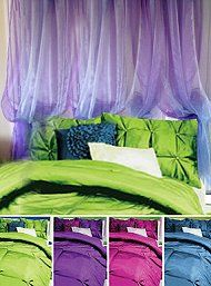Peacock Themed Bedroom Design Ideas | ... Colors: Avocado, Peacock, Scarlet