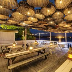 The Surf Lodge is a luxury boutique hotel in Montauk, New York, USA. Deco Restaurant, Restaurant Interior Design, Cafe Interior, Cabana Restaurant, Surf Lodge Montauk, Montauk New York, Restaurants, Lokal, Restaurant Patio