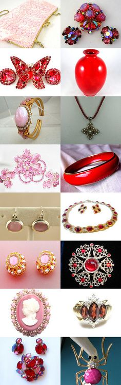 Pinks and Reds 2016 by Marie on Etsy--Pinned with TreasuryPin.com