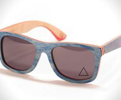 The three brothers at Proof have teamed up for an awesome set of recycled skateboard sunglasses for the spring 2013 season.