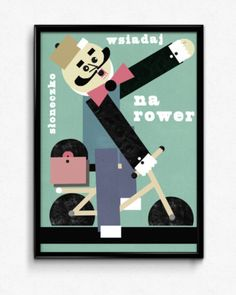 wsiadaj na rower plakat