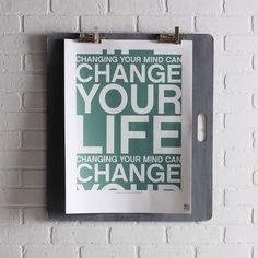 Not that I need to change my life...