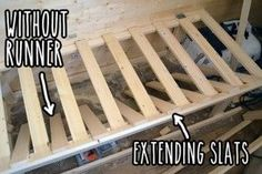 Extending slats without runner