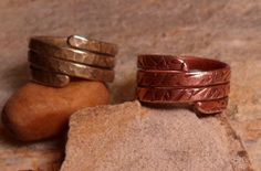 Handcrafted Copper Triple Wrap Ring by BirdieRoadCreations on Etsy, $19.75