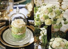WedLuxe: My Fair Scotland - The Wanderlust Issue #ombre #cake