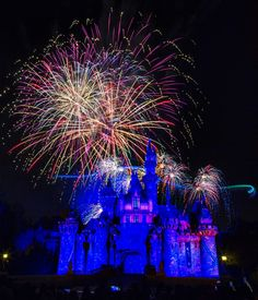 """Disney Parks After Dark: Tinker Bell left a trail of Pixie Dust in the sky in this long exposure shot taken during """"Disneyland Forever"""" fireworks."""